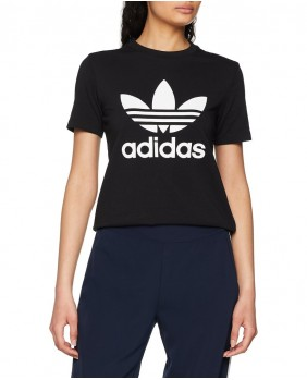 Adidas Originals Trefoil Tee T-Shirt Donna - Black