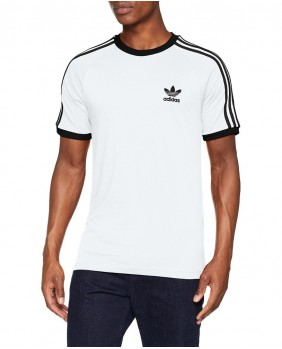 Adidas Originals 3 Stripes Tee T-Shirt Uomo - White