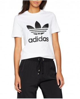 Adidas Originals Trefoil Tee T-Shirt Donna - White