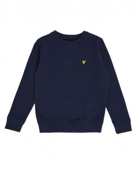Lyle & Scott Classic Crew Neck Fleece Felpa Girocollo Bambino - Navy