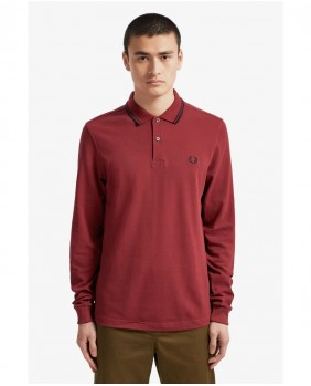 Fred Perry LS Twin Tipped Shirt Polo Uomo - D31