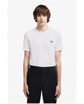 Fred Perry Ringer T-Shirt Uomo - 100