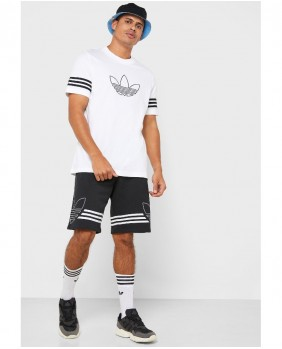 Adidas Originals Outline Tee T-Shirt Uomo - White