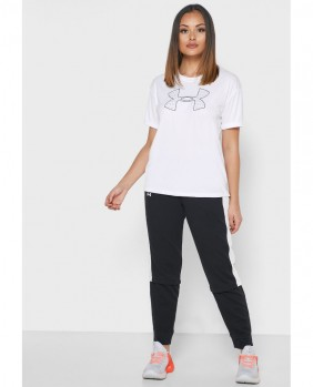 W Performance Graphic SS T-Shirt Donna - White