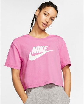 W NSW Tee Essntl Icon T-Shirt Donna - Pink
