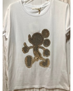 T-Shirt Micky Donna - White