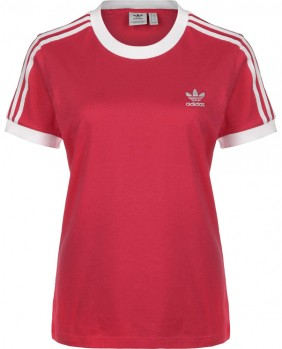 3 Stripes Tee T-Shirt Donna - Pink