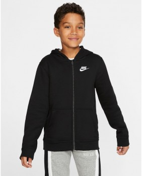 B NSW Hoodie FZ Club Felpa Zip Bambino - Black
