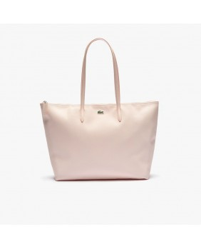 Shopping bag con zip Concept tinta unita - Pearl