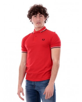 Polo Twin Tipped Uomo - Rosso